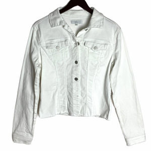 HTRAILZ White Denim Jean Jacket Sequins